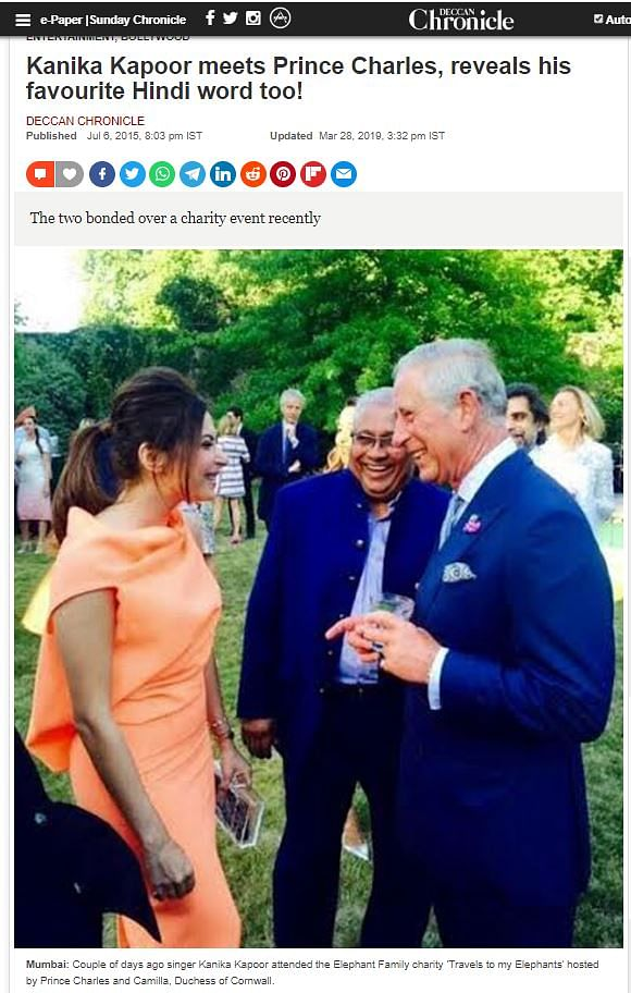 No, Kanika Kapoor Did Not Infect Prince Charles With COVID-19