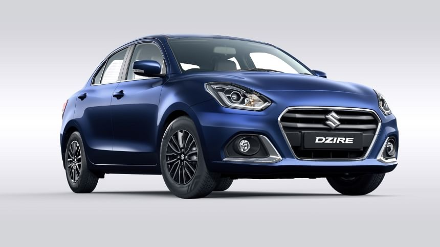 The face-lifted Maruti Suzuki Dzire gets a revised grille and bumper.