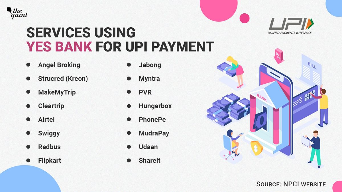 These services were using Yes Bank for its UPI payment back-end.