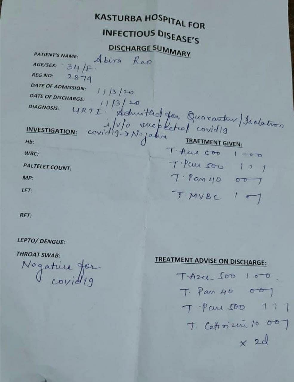 I was Quarantined at Mumbai's Kasturba Hospital. Here's My Story