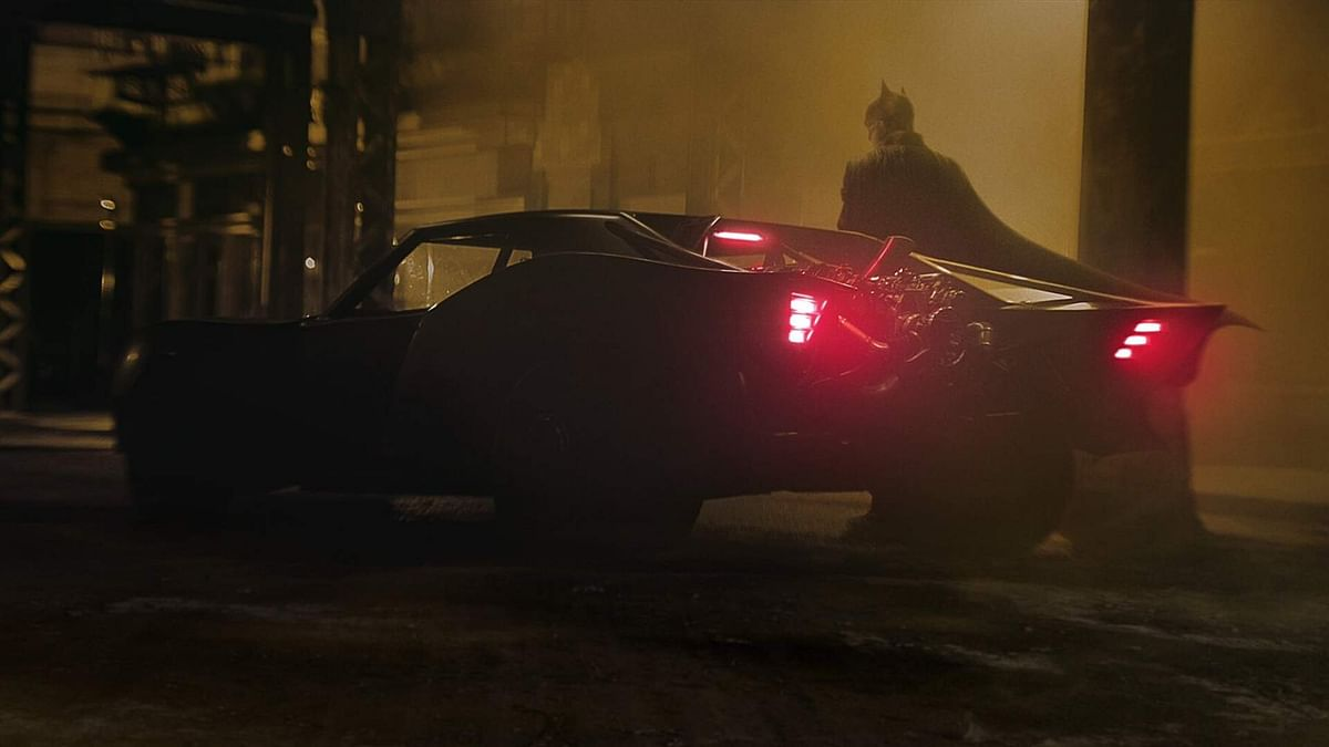 The first look of the Batmobile from the sets of <i>The Batman</i>.