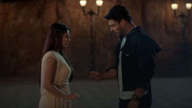 Shehnaaz Gill and Sidharth Shukla in a still from 'Bhula Dunga'.