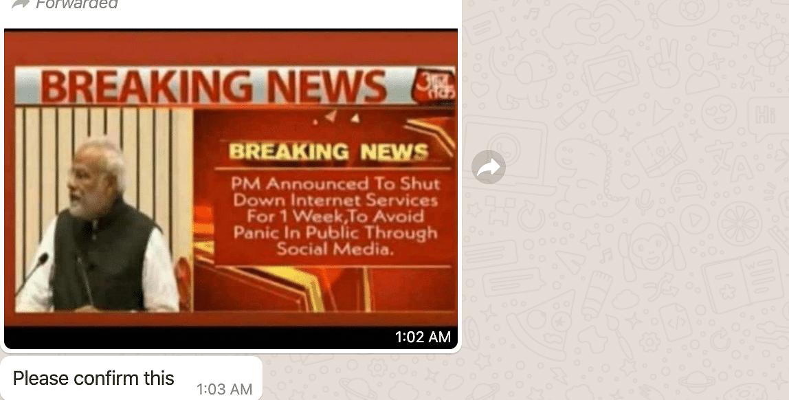 COVID-19: Fake Bulletin Used to Claim PM Ordered Internet Shutdown