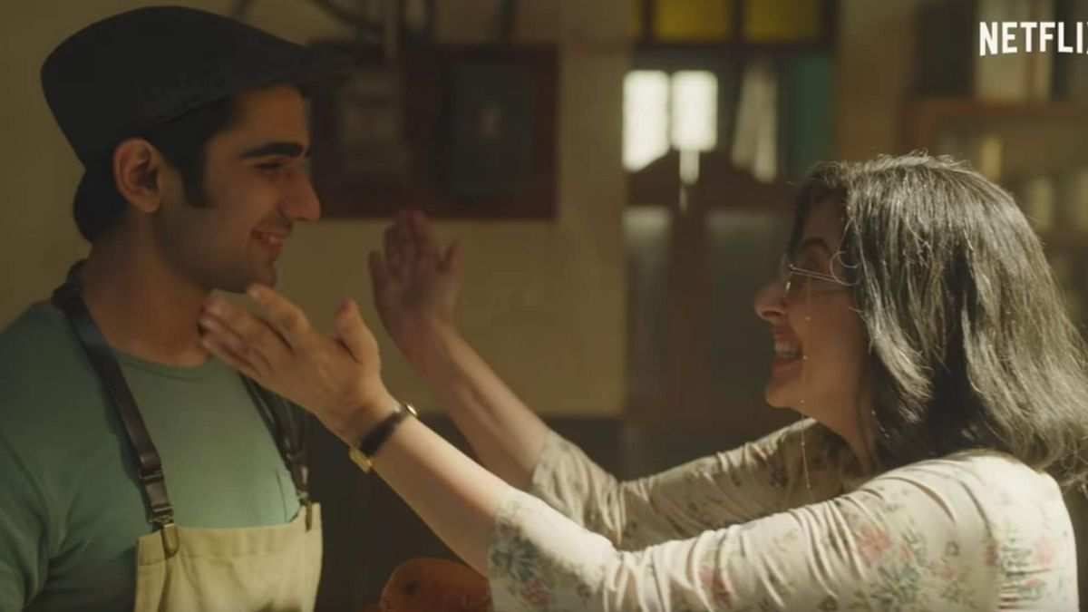 Prit Kamani and Manisha Koirala in a still from Netflix's <i>Maska</i>.