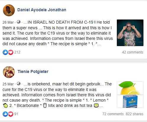 Unverified Message Claims Israel Has Found the Cure For COVID-19