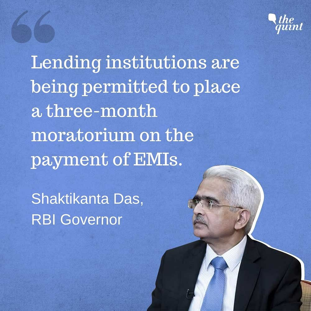 RBI Cuts Repo Rate, Allows 3-Month Moratorium on EMIs: Highlights