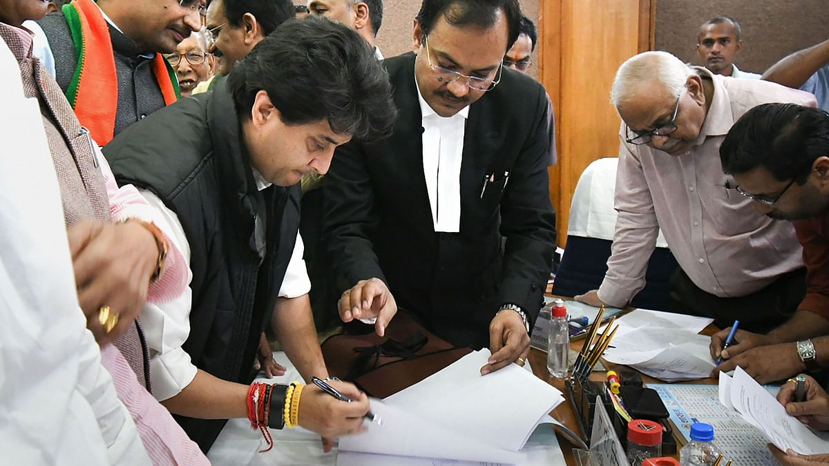 Jyotiraditya Scindia Files Nomination for Rajya Sabha Elections