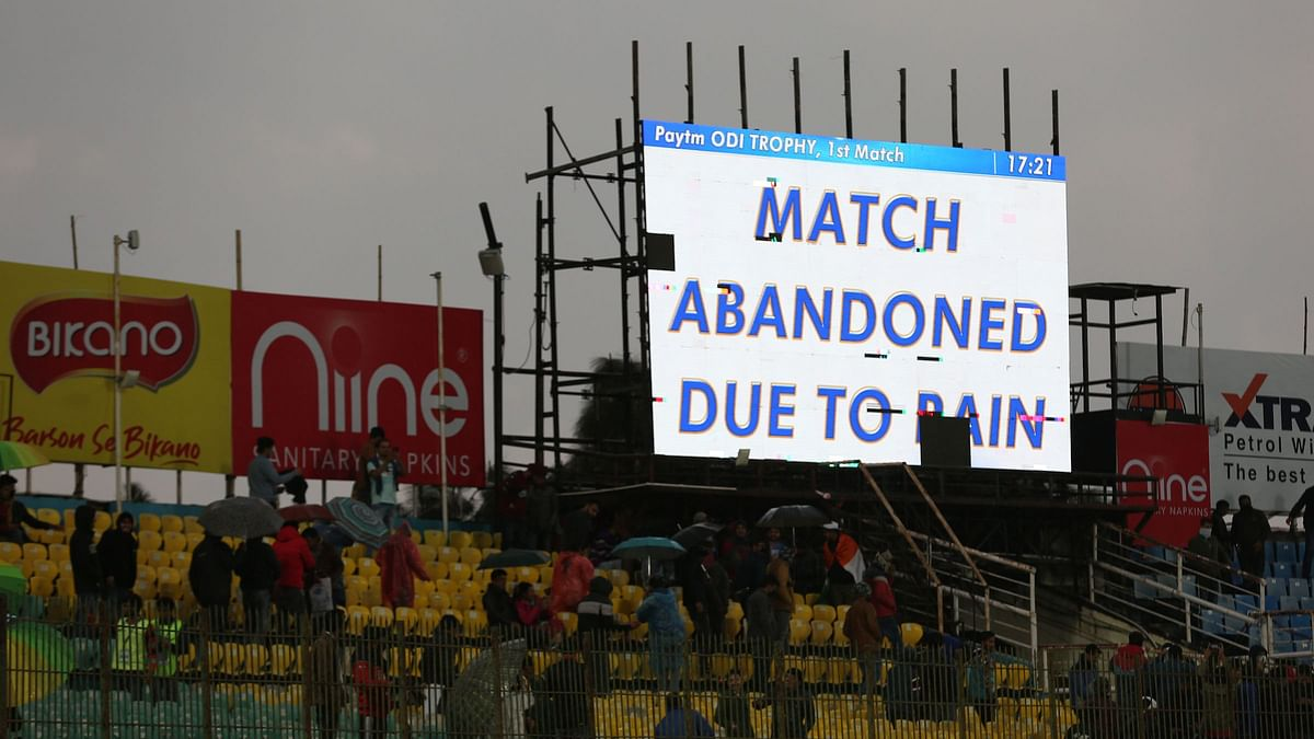 The cut-off time for a 20-over game was 6.30pm (IST) but the on-field umpires made their final inspection and decided to abandon the match much before that.