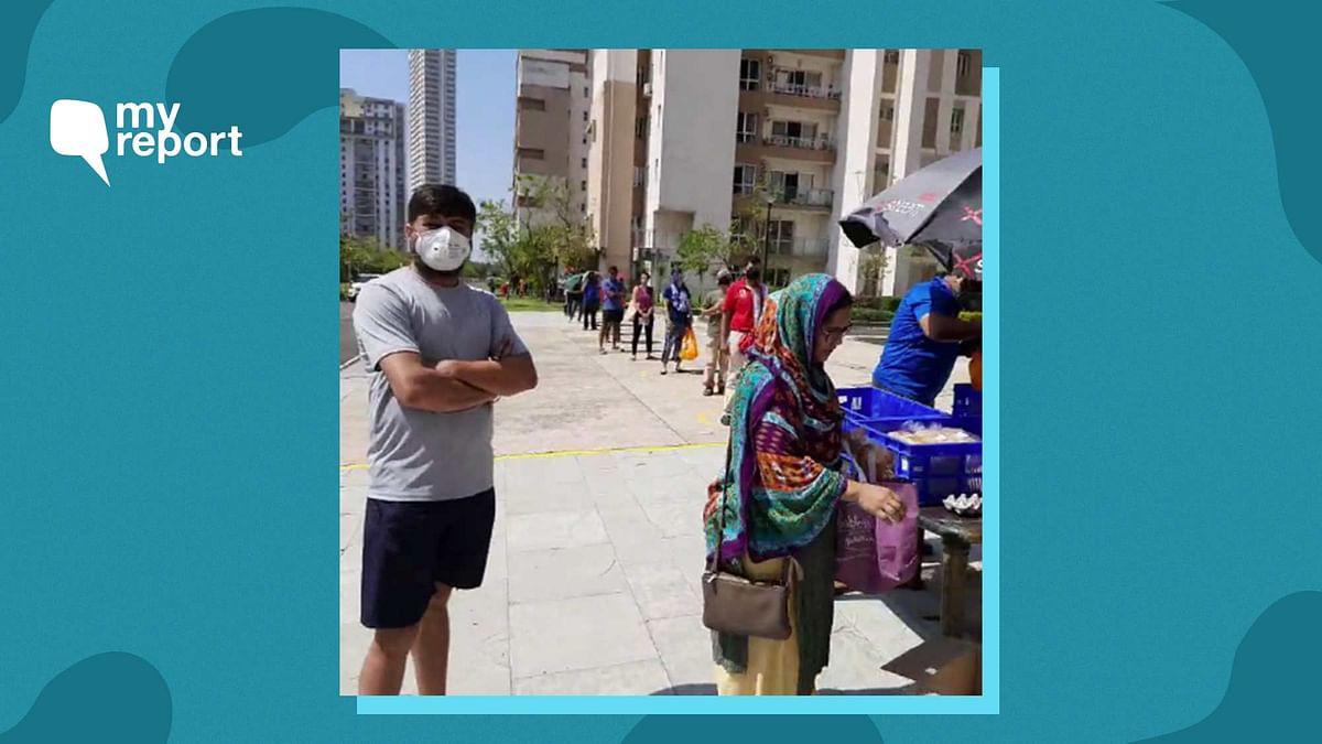 COVID-19: Locals Help Elderly Get Essentials in Kolkata Highrise