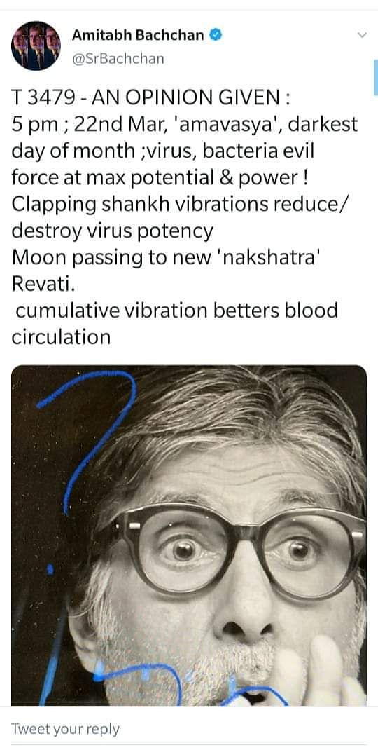 Why Big B's Coronavirus Tweet Is a Cautionary Tale for All Celebs
