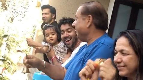 COVID-19: Varun Dhawan & Family Applaud Heroes Fighting the Virus