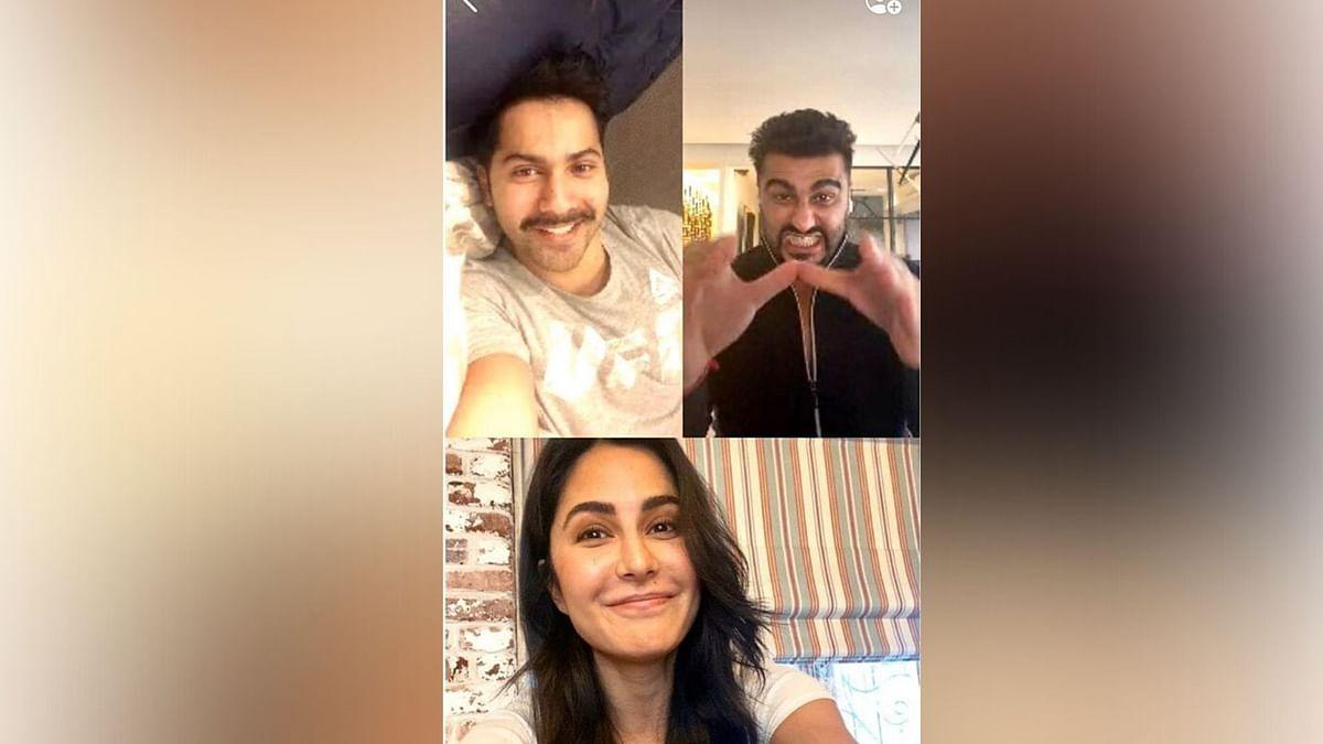 Isolated R Us: Katrina, Varun, Arjun Video Call During Quarantine