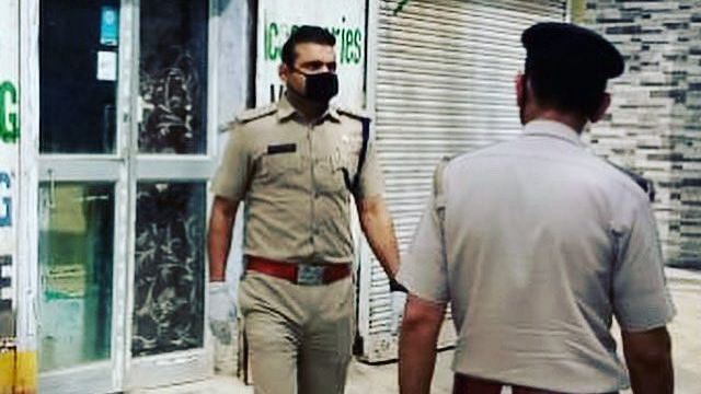 Former cricketer Joginder Sharma on duty during the recent 21-day lockdown period.