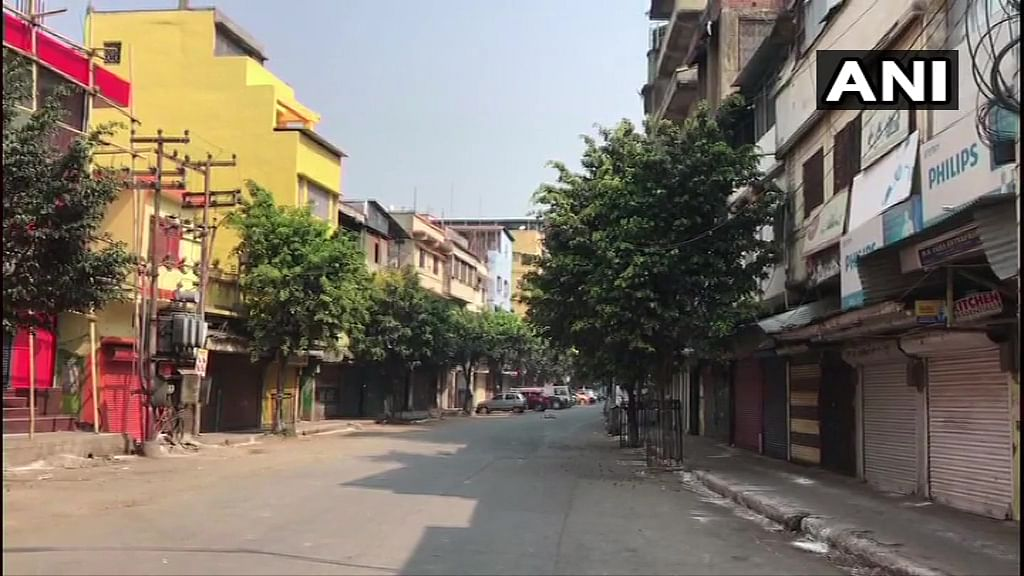 Imphal, Manipur, looked completely deserted.