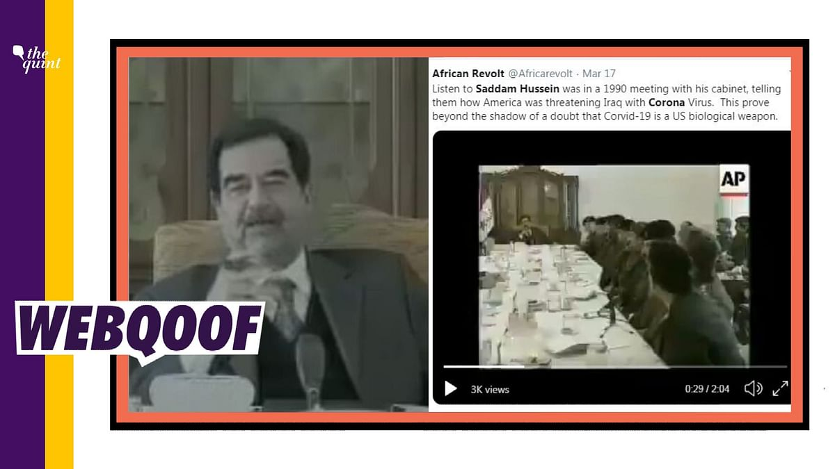 A viral video falsely claims that Saddam Hussein had predicted coronavirus in 1990s.