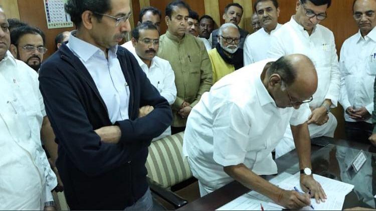 NCP Chief Sharad Pawar Files Nomination for Rajya Sabha Polls