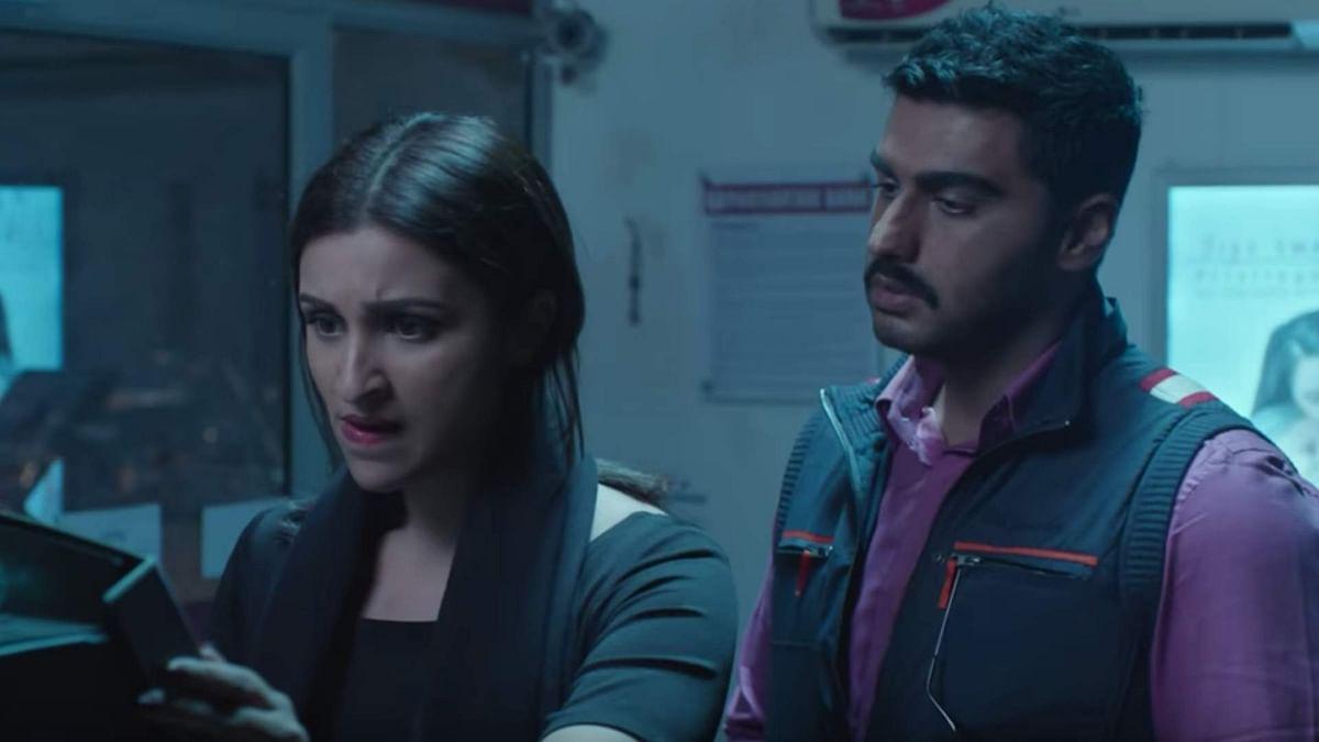 Parineeti Chopra and Arjun Kapoor in a still from <i>Sandeep Aur Pink Faraar</i>.