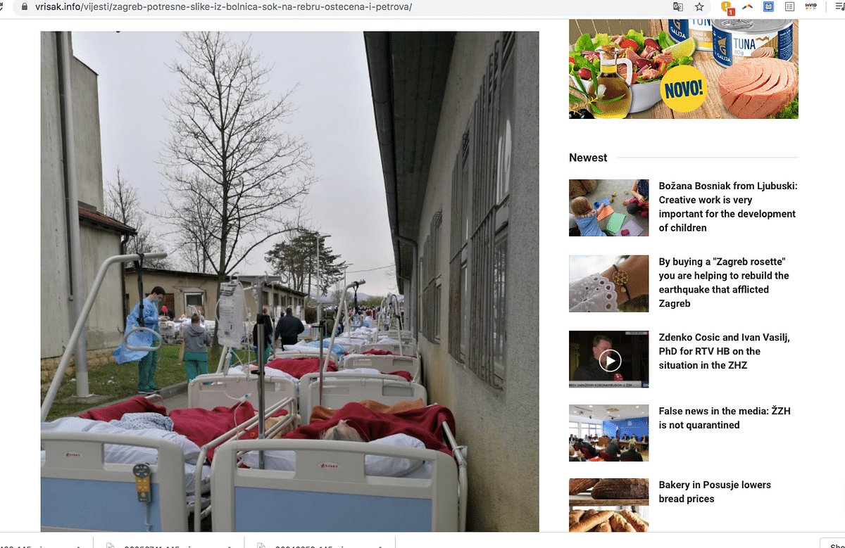 This is Not Corona-Hit Italy, the Photos are of Croatia Earthquake