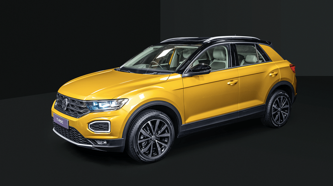 The Volkswagen T-Roc is available in six colours including dual-tone options.
