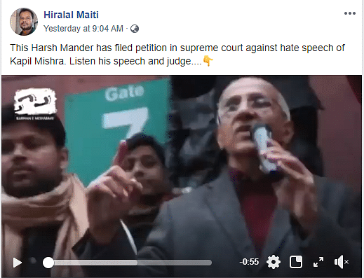 Harsh Mander Instigated Violence in Jamia? No, Video is Clipped