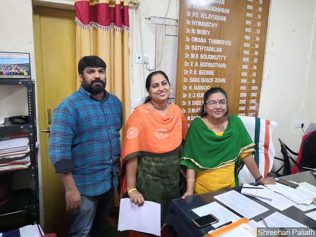 A L Sheeja (right), the district medical officer (DMO), and Nandini C S (centre), deputy DMO and the district surveillance officer.