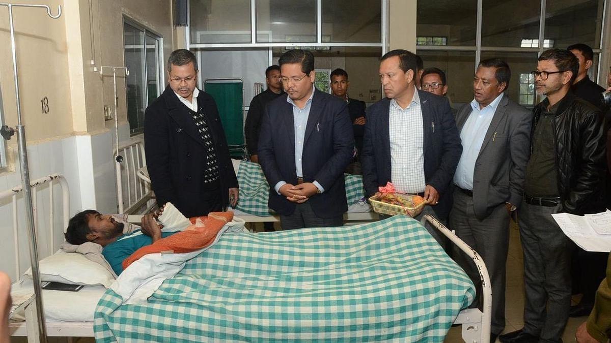 CM Conrad K Sangma visiting the victims of Meghalaya violence over CAA.
