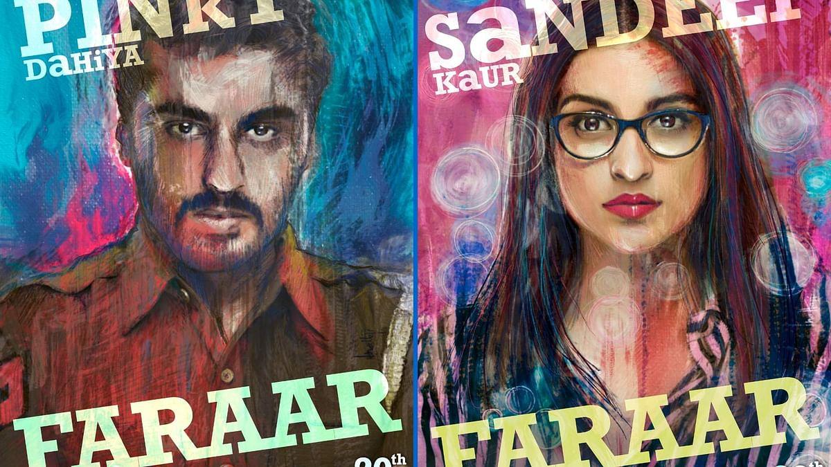 Arjun Kapoor and Parineeti Chopra in posters for <i>Sandeep Aur Pinky Faraar</i>.