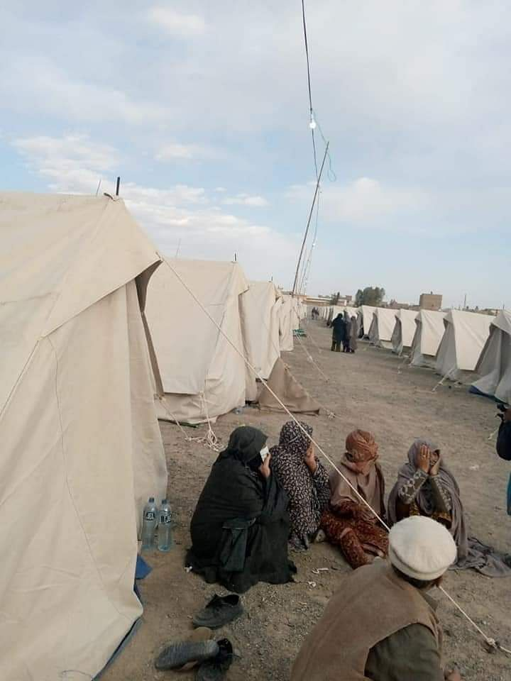 Outside the Taftan 'quarantine' camps set up by Pakistan Army.