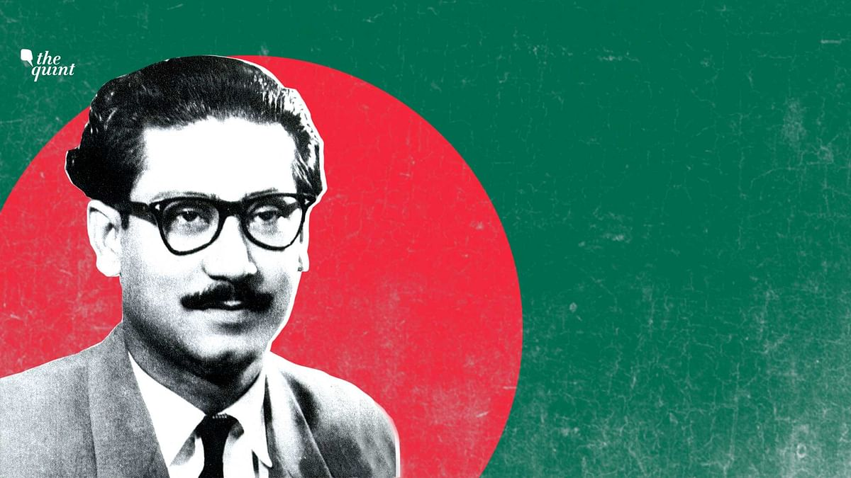 Image of Sheikh Mujibur Rahman and colours of Bangladesh's flag, used for representational purposes.