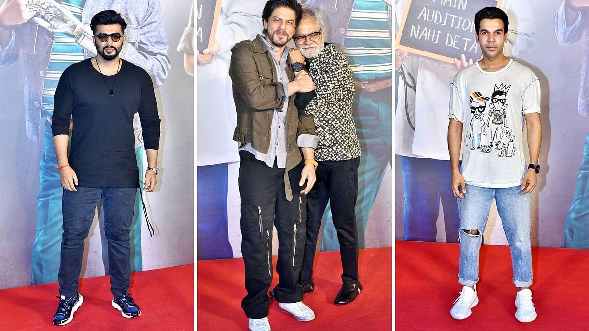 In Pics: Shah Rukh, Sanjay Mishra Attend 'Kaamyaab' Screening