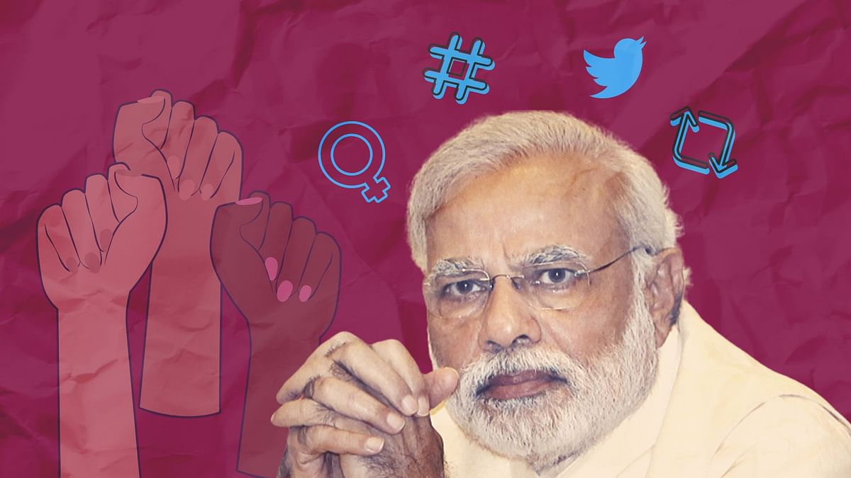 Prime Minister Narendra Modi's Twitter was given to 7 women on Sunday.