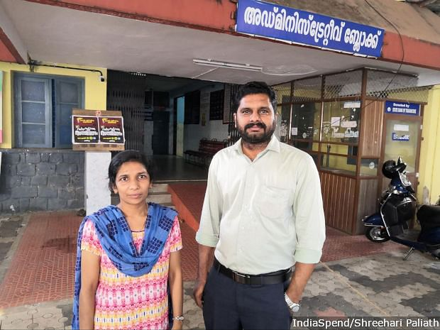 Doctors Nazlin Salam and Asish Mohankumar at the Pathanamthitta General Hospital. Mohankumar has not seen his six-year-old daughter since March 8, who is with his wife at their home in Thiruvalla, 30 km from the hospital. He has been staying in a guest house close to the hospital.