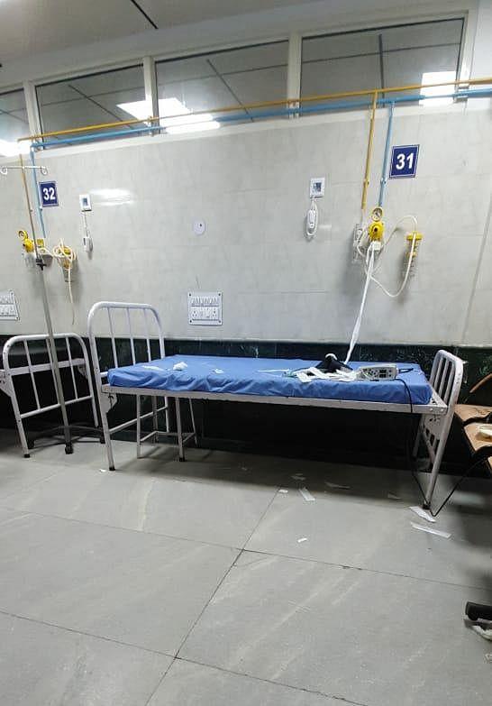 The corona ward at the hospital.