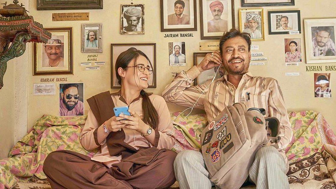 Radhika Madan and Irrfan in <i>Angrezi Medium.</i>