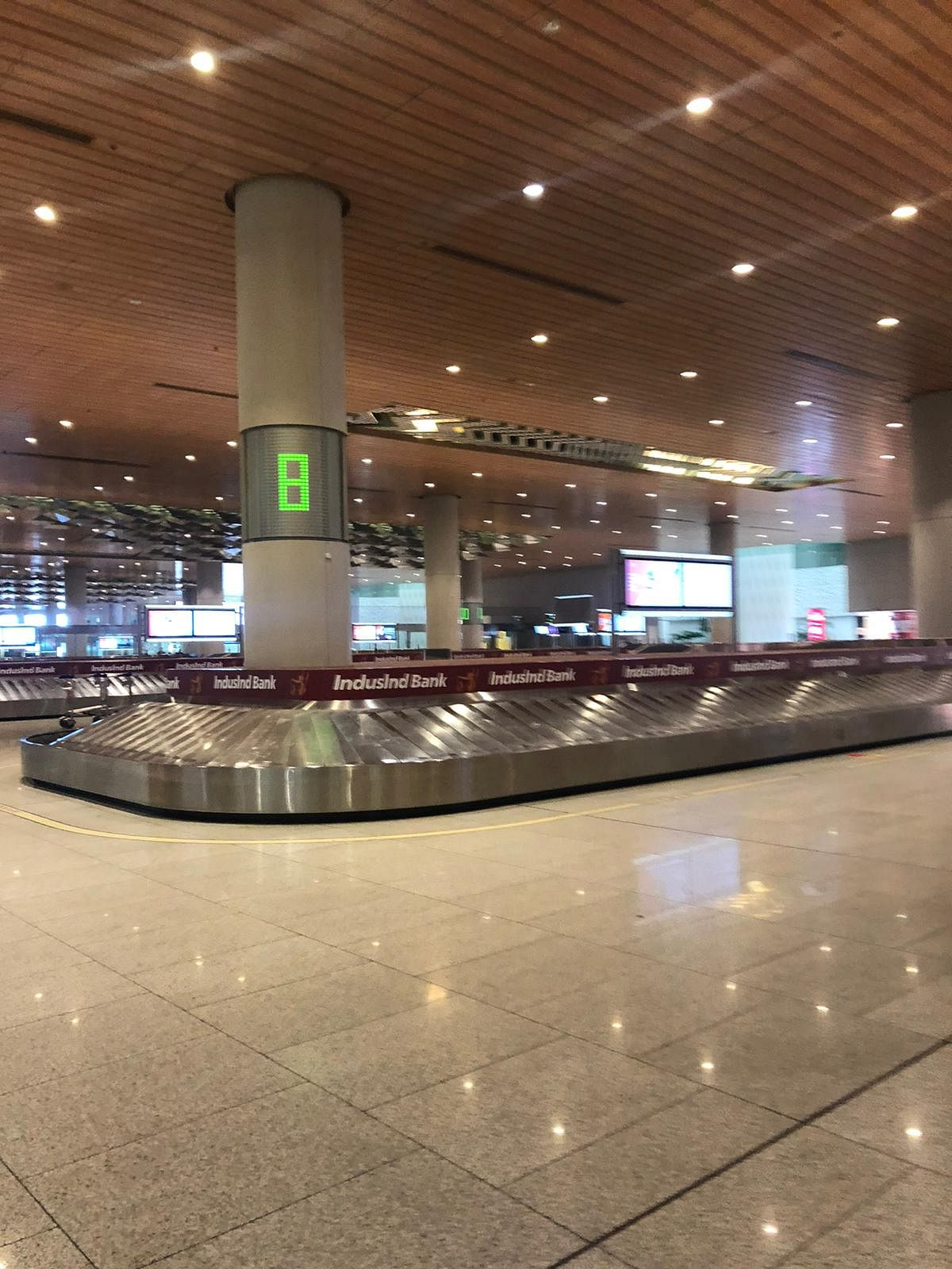 Empty Mumbai airport.