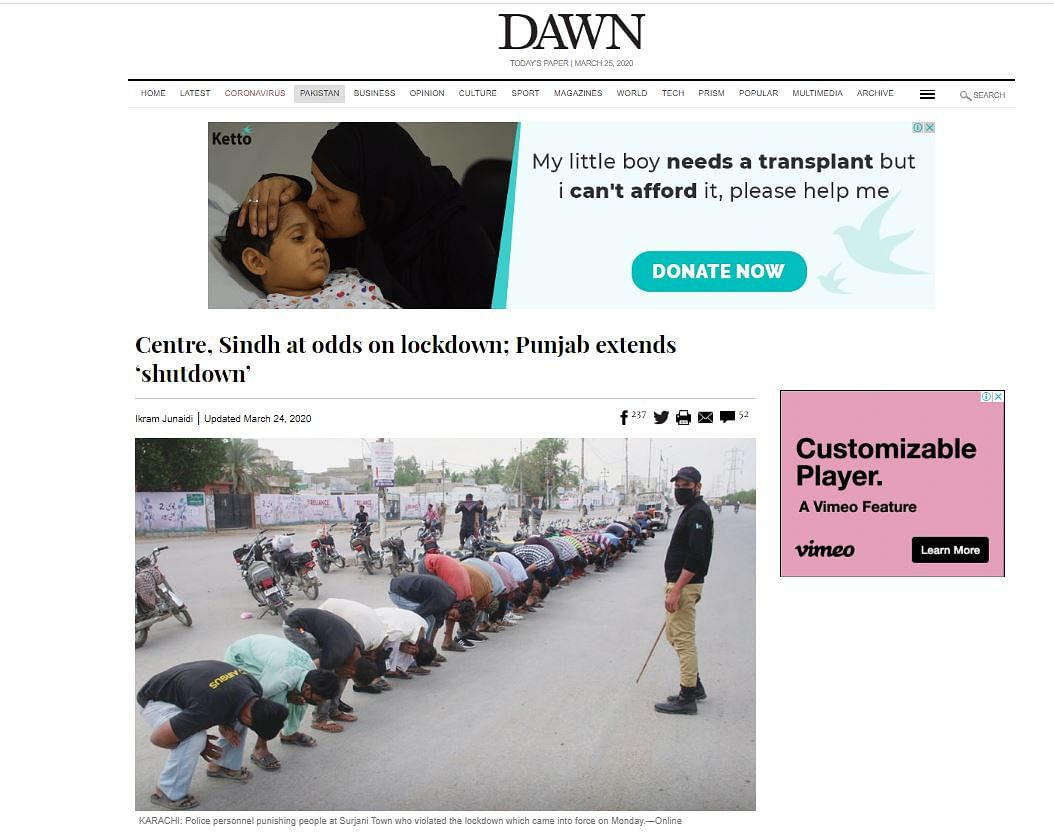 No, Image Of Cop Punishing Lockdown Violators is Not From India