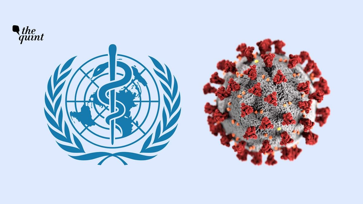 Image of World Health Organization (WHO) symbol and the coronavirus used for representational purposes.