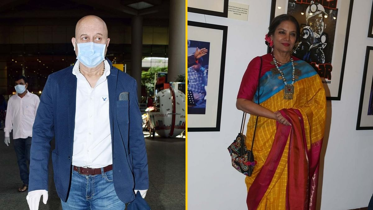 Anupam, Shabana Self-Isolate After Returning from Abroad