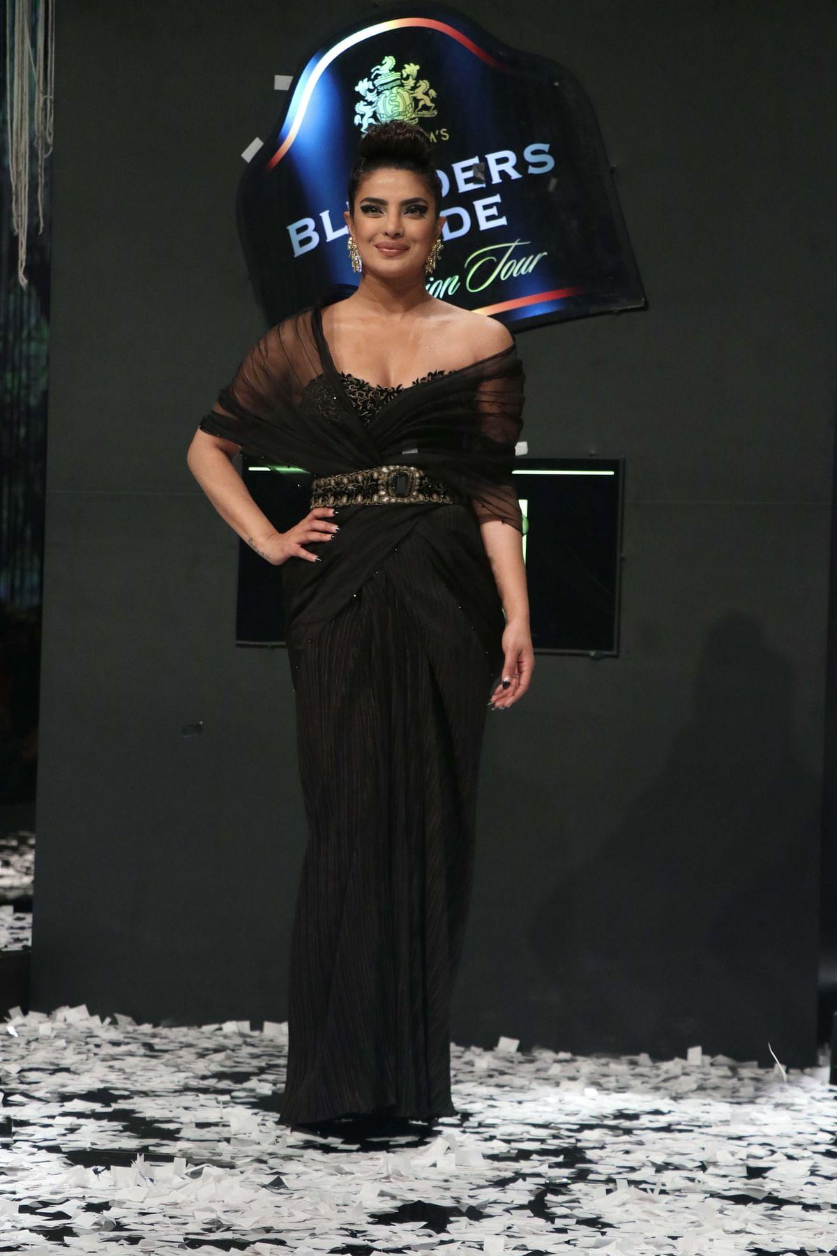 Priyanka Chopra at the Blenders Pride Fashion Tour.
