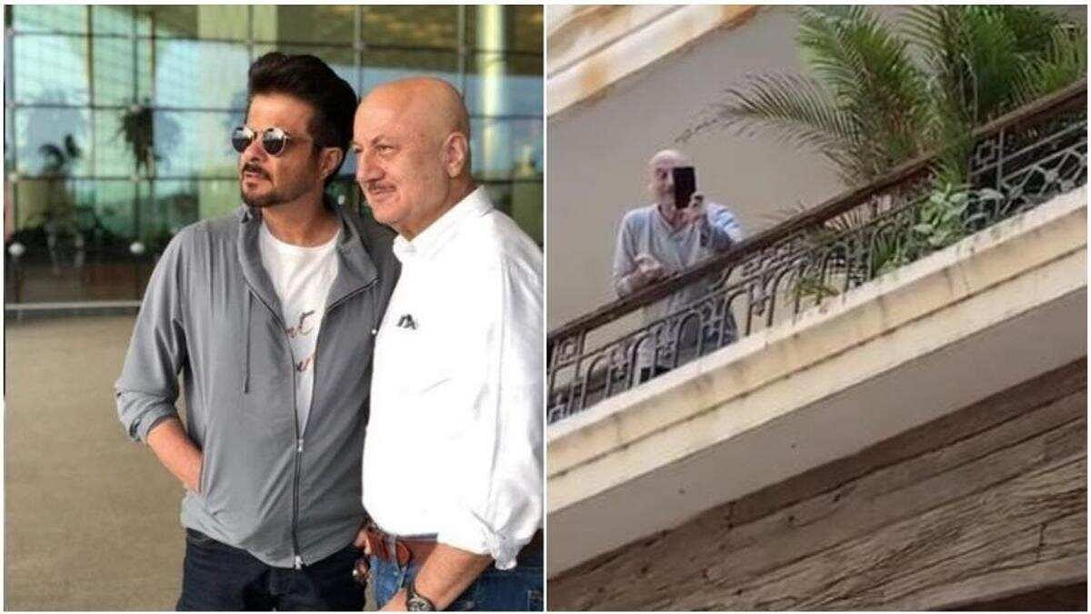Buddies Anil Kapoor and Anupam Kher Socialise In Their Unique Way