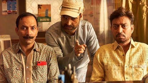 Deepak Dobriyal, Pankaj Tripathi and Irrfan Khan in <i>Angrezi Medium.</i>