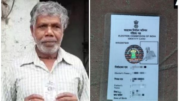 West Bengal man gets revised voter ID with a dog's photo.