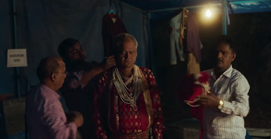 Sanjay Mishra as a yesteryear character actor out to score his 500th role.