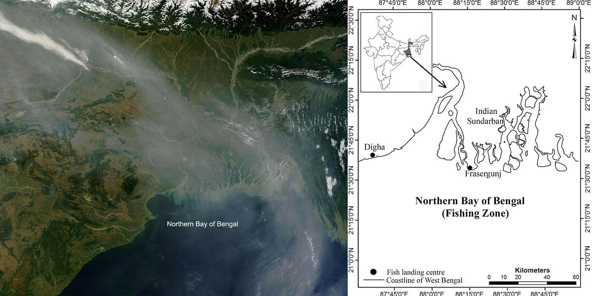 Satellite image of northern Bay of Bengal.