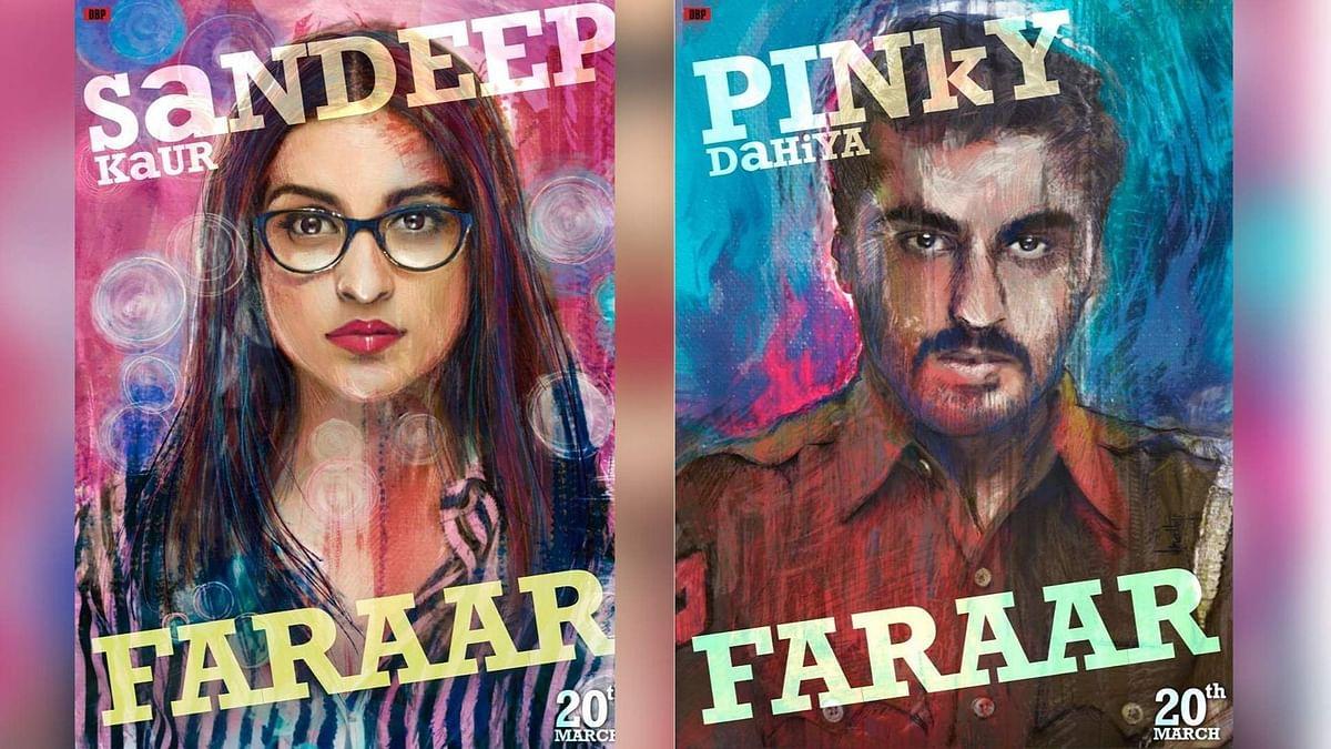 Two posters of <i>Sandeep Aur Pinky Faraar</i>.&nbsp;