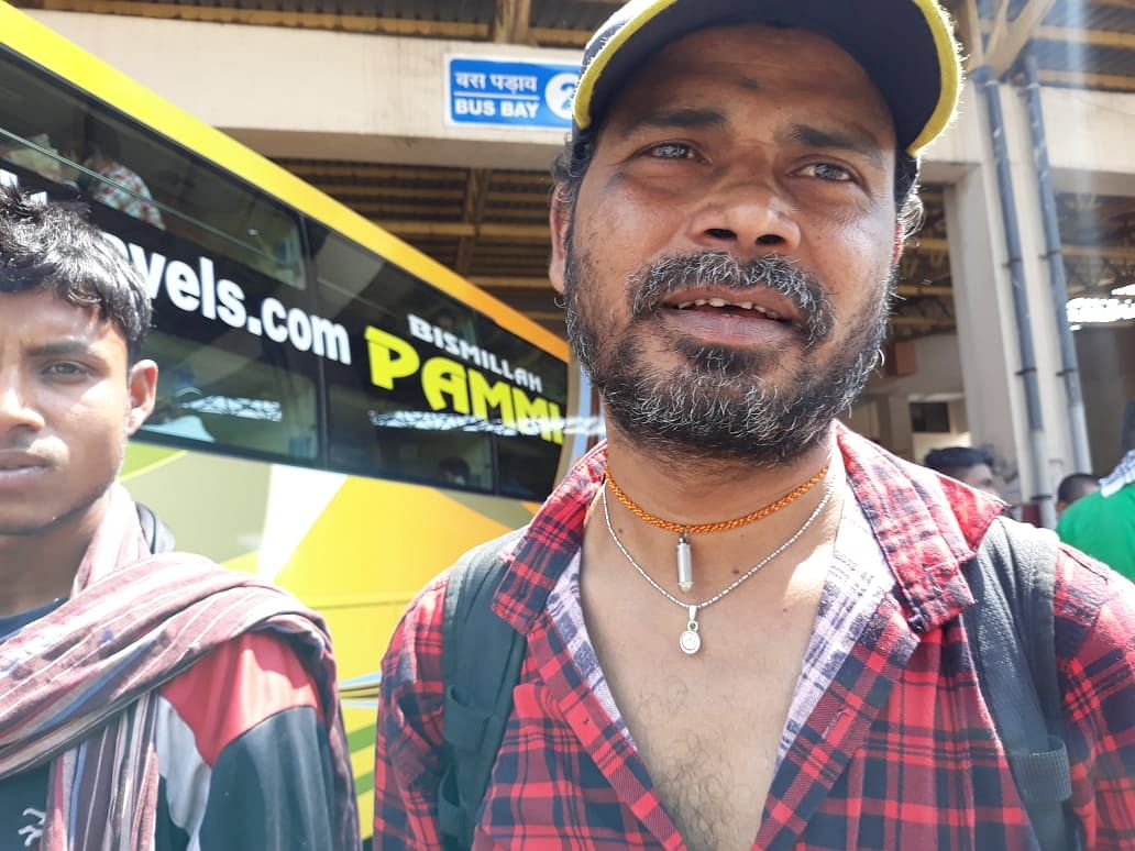 Mahendra Ram spent most of his earnings in rail ticket.