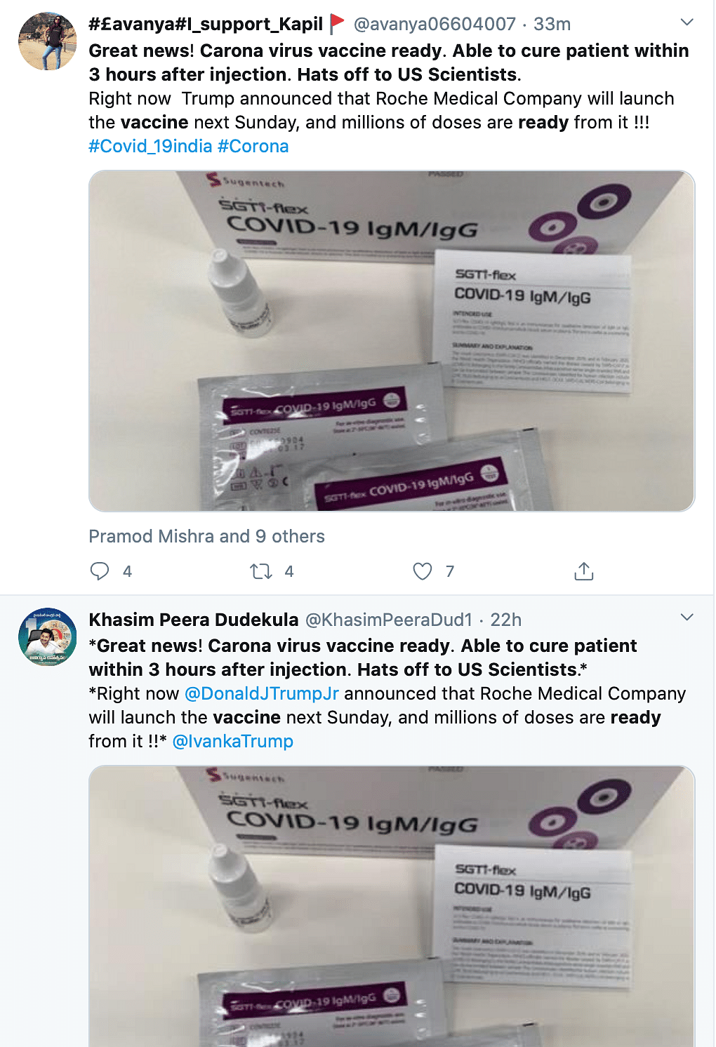 COVID-19 Vaccine Ready, Can Cure Patients in 3 Hours? Fake Alert!