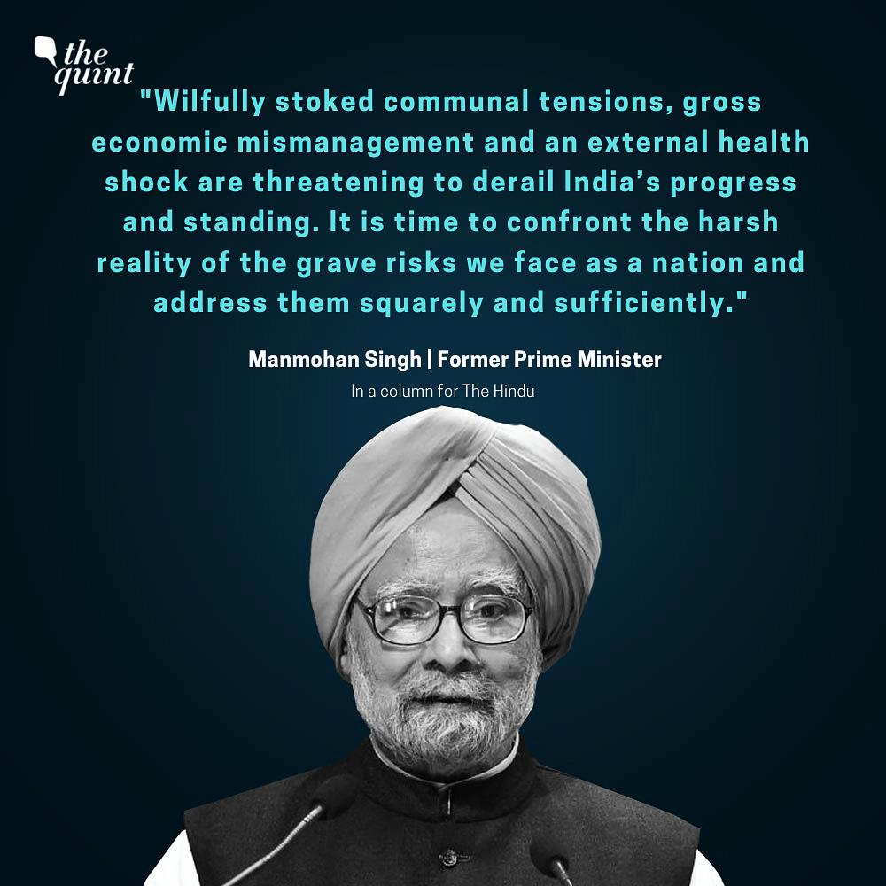 'Coronavirus A Shock Amid Self-Inflicted Unrest': Manmohan Singh