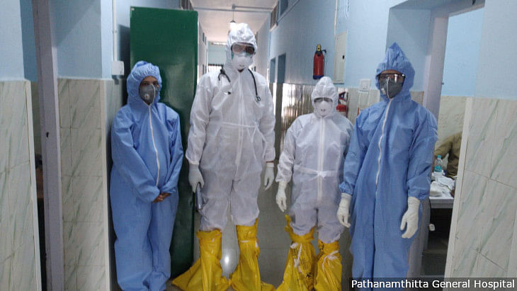 One-month special pay will be given to doctors, nurses, medical staff and sanitary workers  who have been treating patients tested positive for COVID-19 and quarantined. Representative image only.