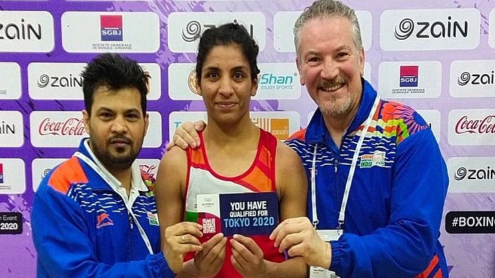 Simranjit won silver in the women's 60 kg weight category at the Asian-Oceanian Boxing Olympic Qualifiers in Jordan.